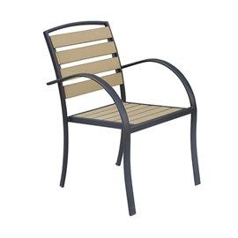 Стол метален/дървен 55х68х85см.
