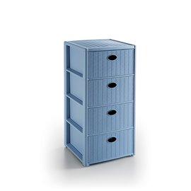 Шкаф син с 4 чекмеджета Elegance