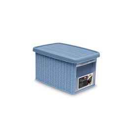 Кутия универсална с отвор синя 29x19x16см. Elegance S