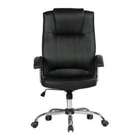 Офис стол от еко кожа черен | MUHLER