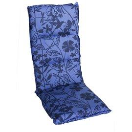 Възглавница за стол двойна синя с декорация Multialta 115х50см.