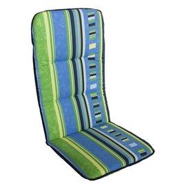 Възглавница за стол двойна синьо/жълта Multialta 115х50см.