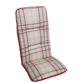 Възглавница за стол двойна бежово каре Multialta 115х50см.