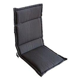 Възглавница за стол двойна кафява 104х43х4см.