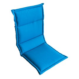 Възглавница за стол двойна синя 104х43х4см.