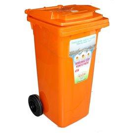Кош за отпадъци оранжев 120л.