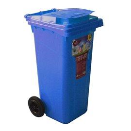 Кош за отпадъци син 120л.