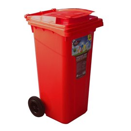 Кош за отпадъци червен 120л.
