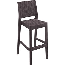 Бар стол кафяв ратан Jamaica 40x51x108см.