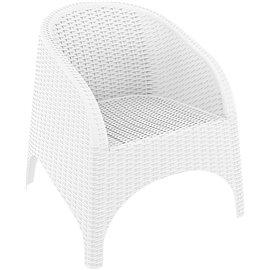 Кресло бяло ратан Aruba