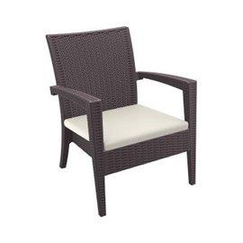 Кресло с подлакътник кафяво ратан Miami