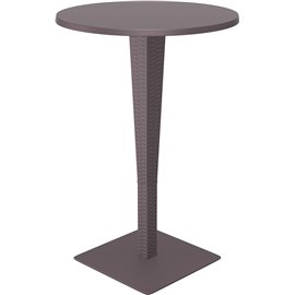 Бар маса кръгла кафява ратан Riva ф70см.