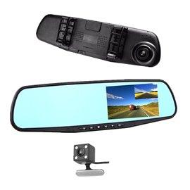 Видеорегистратор в огледало с камера за задно виждане