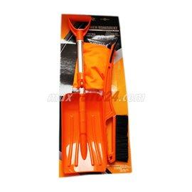 Комплект стъргалка с четка, ръкавица и лопата за сняг