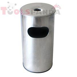 Пепелник без решетка хром 30л. 29.5x29.5x60.5см.