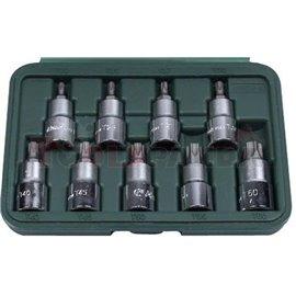 контакт опашка набор 02/01 TORX 9units профил с L 55мм дупка в пластмасова кутия, размери TH20-TH60