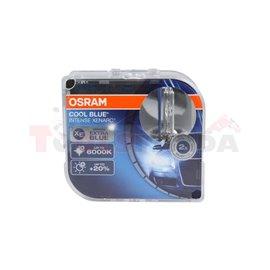 Крушка D3S, 42V, 35W, 6000 (EN) K, 3200 (EN) lm., цвят: син, тип фасунга: PK32D-5, серия: Cool Blue Intense, брой в опаковка: 2