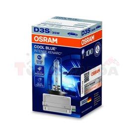 Крушка D3S, 42V, 35W, 6000 (EN) K, 3200 (EN) lm., цвят: син, тип фасунга: PK32D-5, серия: Cool Blue Intense, брой в опаковка: 1