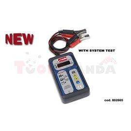 Тестер за акумулатори 12V дигитален с функция за показване състоянието на зареждане