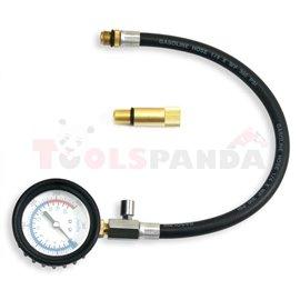 Тестер за компресияя на бензинови двигатели, 0-300 PSI, подходящ за свещи 14 и 18 мм