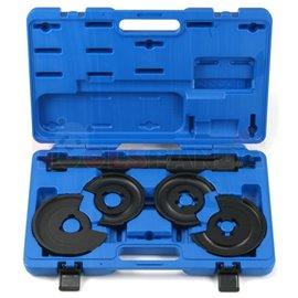 Комплект инструменти за компресия на пружини до 1250kg. Диаметър 80-135мм, диапазон обхват на челюстите: 115-300мм