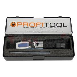 Специализиран уред за измерване на концентрацията на антифриз - рефрактометър.