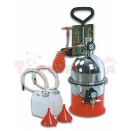 Пневматично устройство за обезвъздушаване на спирачната система и смяна на спирачната течност