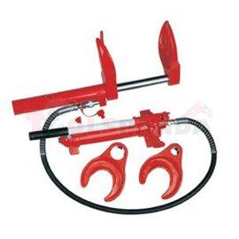 Хидравличен апарат за свиване на пружини с коравина до 1000 кг, тегло на апарата 24.5 кг, обхват до 150 мм