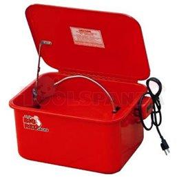 Съд за почистване на части задвижва се от електромотор, тегло: 6,5 кг, капацитет: 16 литра.