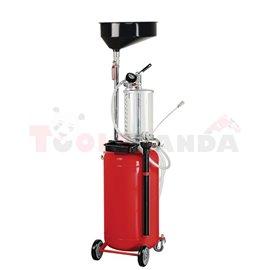 Устройство за извличане на използвано масло чрез изсмукване и гравитационно. Капацитет на резервоара: 90 литра. С допълнителен с