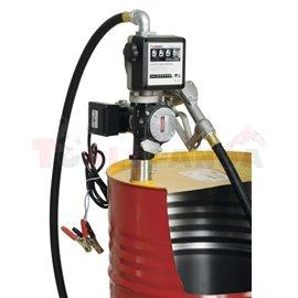 Комплект за дистрибуция на масло за варели от 180 - 220 литра, електрическа помпа от 35 до 70 литра / минута, захранващо напреже