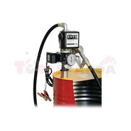 Комплект за дистрибуция на масло за варели от 180 - 220 литра, електрическа помпа от 72 литра / минута, захранващо напрежение: 1