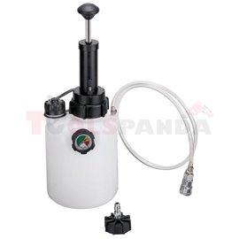 Пневматично устройство за обезвъздушаване на спирачната система и смяна на спирачната течност 2.5л.