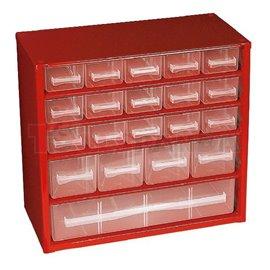 Органайзер за инструменти пластмасов с 20 чекмеджета: 30x14.7x28.5см.