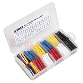 Термосвиваем шлаух цветен, 50мм. ф3.2 (x70), ф4.8 (x70), ф6.4мм. (x50) 190 броя