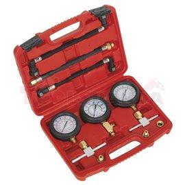 Комплект за измерване на компресията и налягането на горивото за мотоциклети