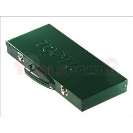 комплект (16бр.) ключове в метална кутия: 6-19, 22, 24 наклон 15 градуса