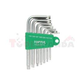 комплкет шестограмни ключове, удължени: T10, T15, T20, T25, T27, T30, T40