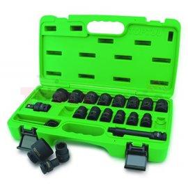 """комплект вложки ударови hex 1/2"""": 10-19, 21, 22, 23, 24, 27, 30, 32мм в пластмасова кутия"""