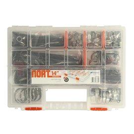 Комплект от скоби и свински опашки в пластмасово куфарче, 365 елемента
