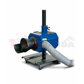 Система за извеждане на изгорели газове, електромотор - 0,55kW, захранване 230V, дължина на маркуча 121мм, диаметър: 152мм, висо