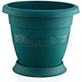 Саксия кръгла зелена N40 Лукс