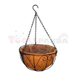 Саксия кокосова кошница кръгла 30см.