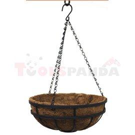Саксия кокосова висяща кръгла 35см.
