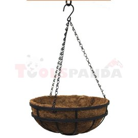 Саксия кокосова висяща кръгла 30см.