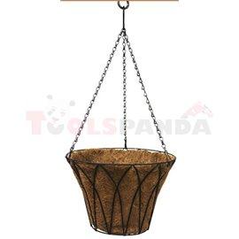 Саксия кокосова висяща кошница 35см.