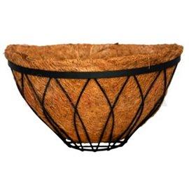 Саксия кокосова стенна полукръгла 35x18см.