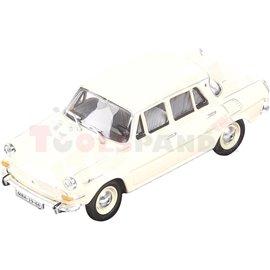 Макет на кола бяла Skoda 1000MB 1964 1:43 14г.
