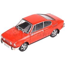 Макет на кола червена Skoda 110R Coupe 1980 1:43 14г.