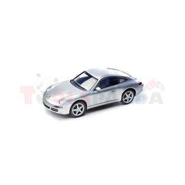 Макет на кола сива Porsche Carrera R/C 911 1:16 5г.